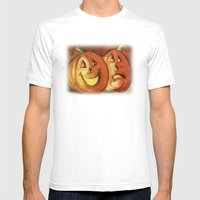Jack-O-Lanterns Mens Fitted Tee White SMALL