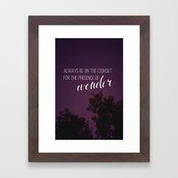 Presence Of Wonder. Framed Art Print