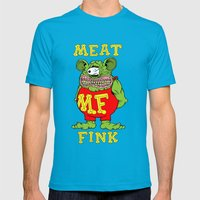 Meat Fink Mens Fitted Tee Teal SMALL