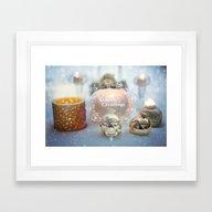 Seasonal Greetings Framed Art Print