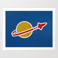 Blue Spaceman Art Print