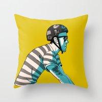 MIKE'S BIKE Throw Pillow