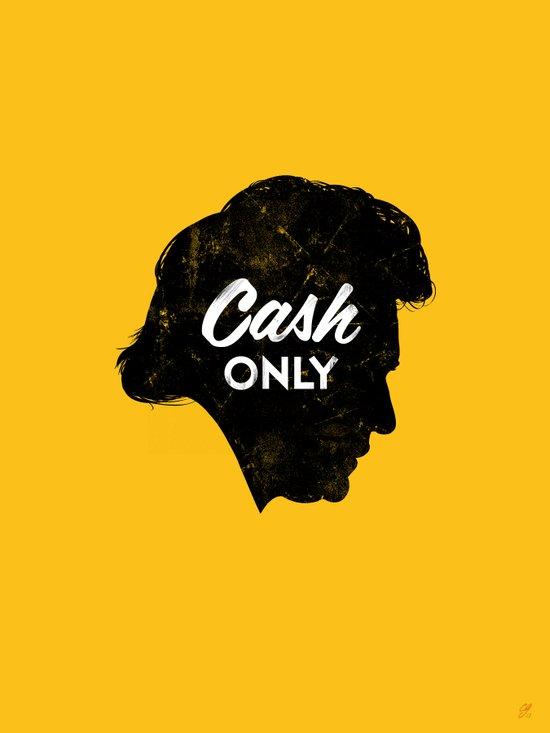 Cash Only (Gold) Art Print