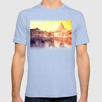Rome Mens Fitted Tee Tri-Blue SMALL