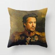 Robert Downey Jr. - Repl… Throw Pillow