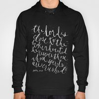PSALM 34:18 (Black And W… Hoody