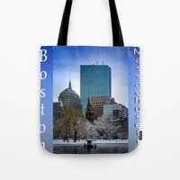 Winter In Boston Tote Bag