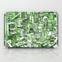 City Machine - Green iPad Case