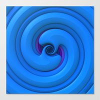 BlueSnake Spiral Canvas Print