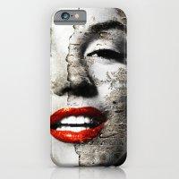 Marilyn Monroe - Wall painting iPhone 6 Slim Case