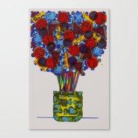 Geometric Flowers Canvas Print