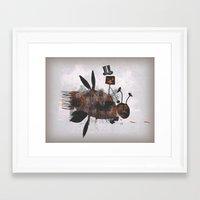 Bee Fighter Framed Art Print