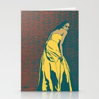 Lady In Yellow Dress Stationery Cards