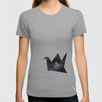 Cranes & Stars Womens Fitted Tee Athletic Grey SMALL