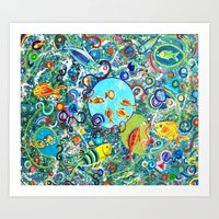 Fish Party Art Print