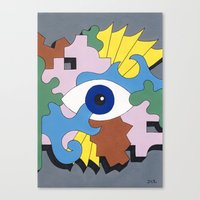 Patterned Eyes | The Rig… Canvas Print