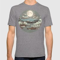Ocean Meets Sky  Mens Fitted Tee Tri-Grey SMALL