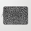 Gray Black Leopard Laptop Sleeve