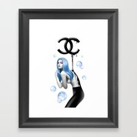 BLACK GOLD Framed Art Print