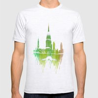 St Pauls Cathedral London Mens Fitted Tee Ash Grey SMALL