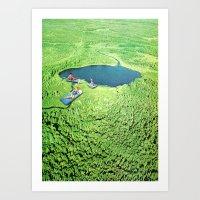 Bathing Art Print