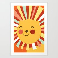 Leo The Lion  Art Print