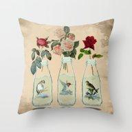 Bottled Spring Throw Pillow