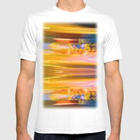 Night Light 131 - Roller… Mens Fitted Tee White SMALL