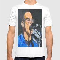 Portrait Of Tom Beyer Mens Fitted Tee White SMALL