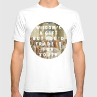 The Step Of Athens Mens Fitted Tee White SMALL