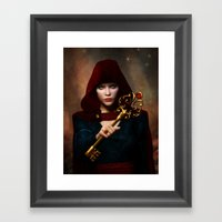 Key of wisdom Framed Art Print