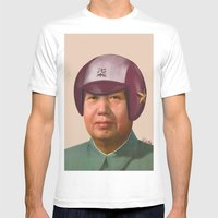 Helmet Mao Mens Fitted Tee White SMALL