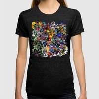 Marvel MashUP Womens Fitted Tee Tri-Black SMALL