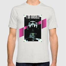 I AM INVISIBLE Mens Fitted Tee Silver SMALL