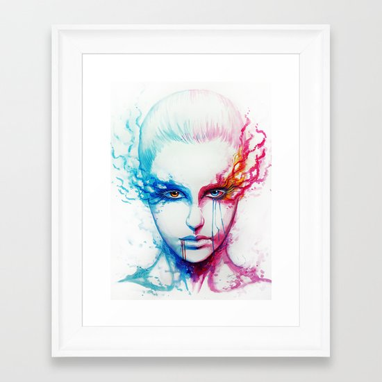 """Bipolarity"" Framed Art Print"