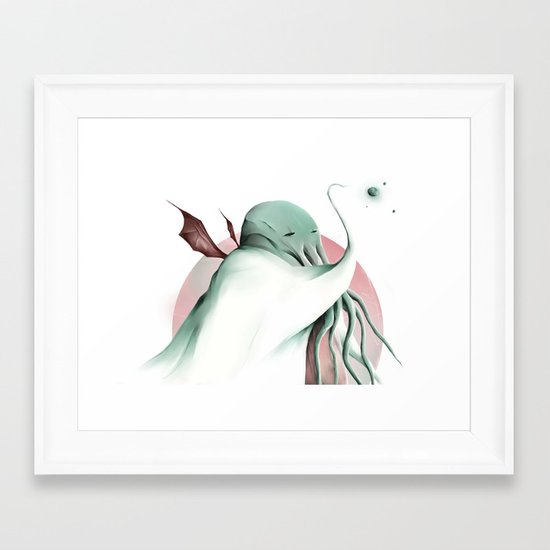 Cthulhu, conqueror of all worlds Framed Art Print