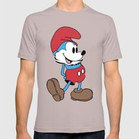 Mickey x Papa Smurf Mens Fitted Tee Cinder SMALL