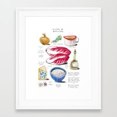 illustrated recipes: risotto al radicchio Framed Art Print