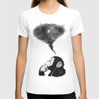Chimpistotle Womens Fitted Tee White SMALL