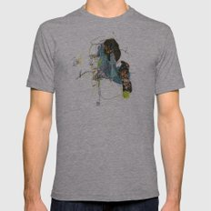 Marvin Gaye Mens Fitted Tee Athletic Grey SMALL