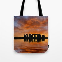 Stonehenge Sunrise, Wiltshire Tote Bag