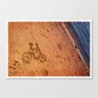 sand bicycle Canvas Print