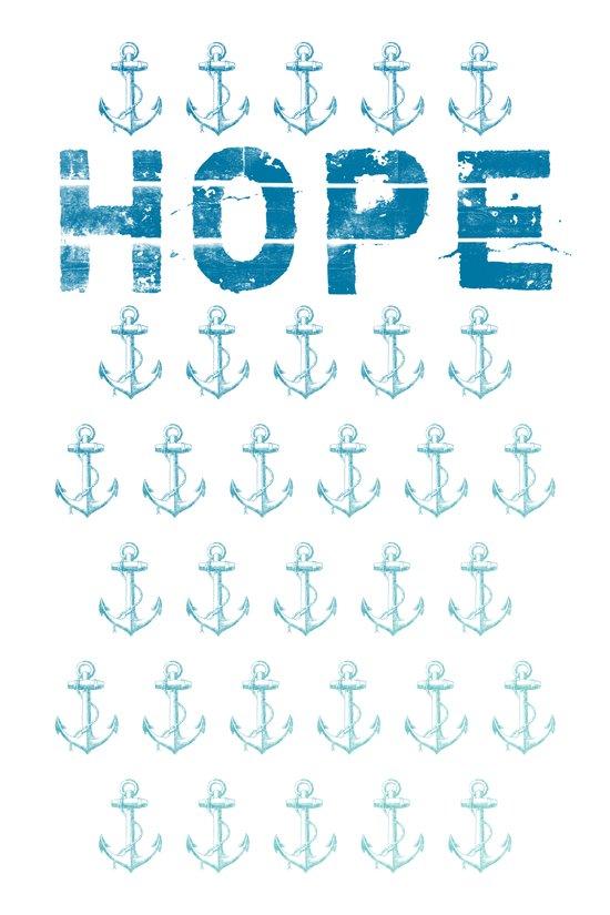 Hope Anchor Pattern Art Print