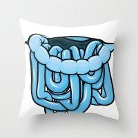 viscera : blue razz Throw Pillow
