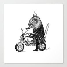 Fishy bike Canvas Print