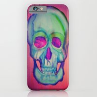 Watercolor skull/Blue iPhone 6 Slim Case