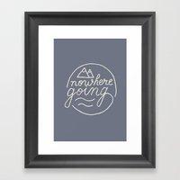 Nowhere Going Framed Art Print