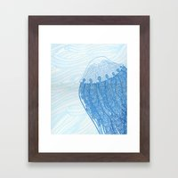 Blue Jelly  Framed Art Print