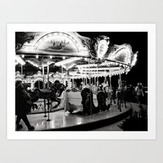 Navy Pier's Carousel at Night Art Print
