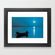 Moonset Framed Art Print